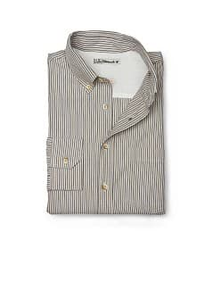 SLIM-FIT STRIPED COTTON OXFORD SHIRT