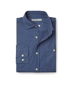Camisa algodón invertido slim-fit