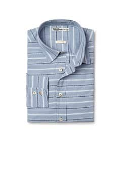 Striped cotton slim-fit shirt