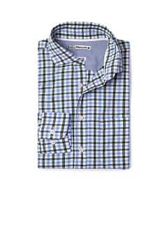 CAMISA COT QUADRES AJUSTADA