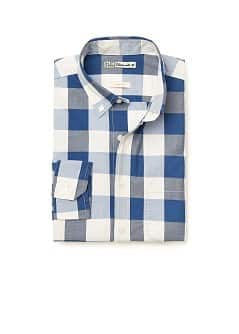 Chemise slim-fit en coton  carreaux