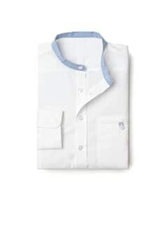 Mao collar slim-fit shirt