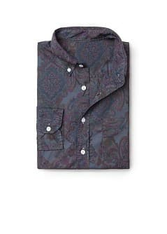 Cashmere printed slim-fit shirt