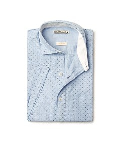 Cotton polka dot slim-fit shirt
