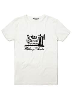Printed devoré cotton t-shirt