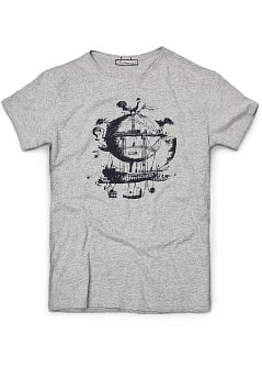 SHIP PRINT T-SHIRT