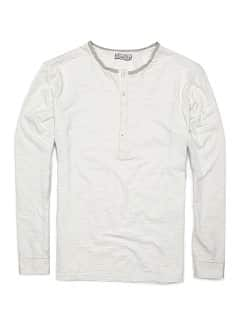 KATOENEN HENLEY T-SHIRT