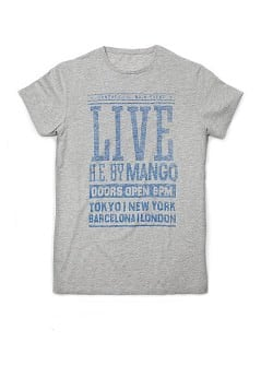 T-SHIRT MIT LIVE-AUFDRUCK