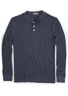 Geripptes Henley-T-Shirt