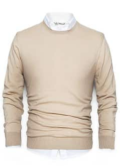 PULLOVER COTONE COLLO STONDATO