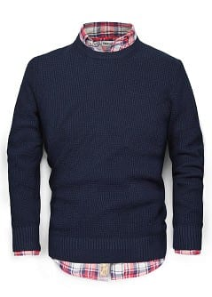 PULLOVER COTON TRICOT GAUFR