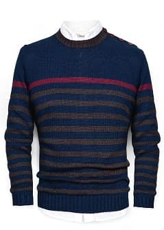 NAVY STYLE COTTON SWEATER