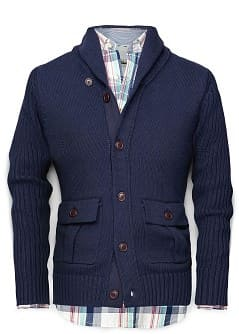CARDIGAN COL SMOKING COTON