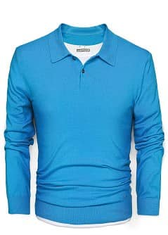 FEINSTRICK-POLOSHIRT
