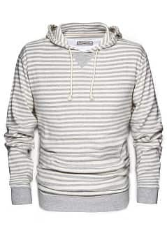 SWEAT-SHIRT CAPUCHE RAYURES