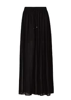 Slits sheer maxi skirt