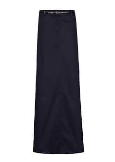 Belt long skirt