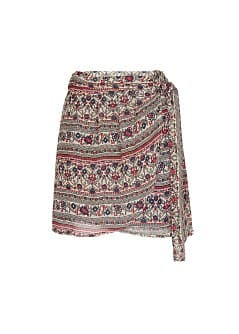 Printed sarong skirt