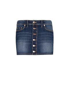 Mini-jupe denim