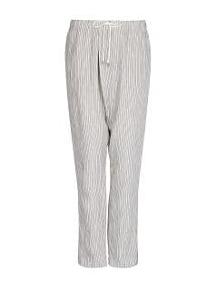 Linen cotton-blend striped baggy trousers