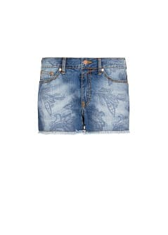 Short denim paisley