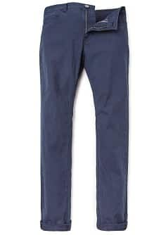 PANTALONI COTONE TINTO IN FILO SLIM-FIT
