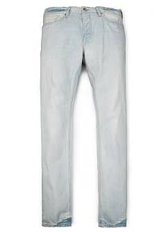 STEVE SLIM-FIT GEBLEEKTE JEANS