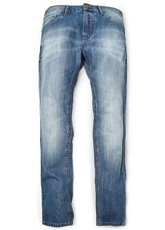 JEANS STEVE SLIM-FIT EFFETTO &quot;LAVATO&quot; MEDIO