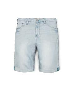 PAINT DROPS DENIM BERMUDA SHORTS