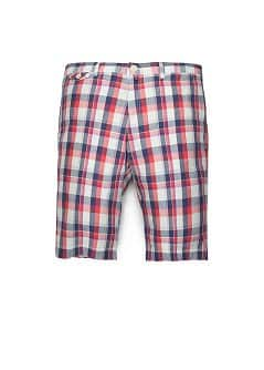 MADRAS CHECK BERMUDA SHORTS