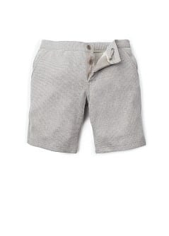 FLECKED COTTON BERMUDA SHORTS