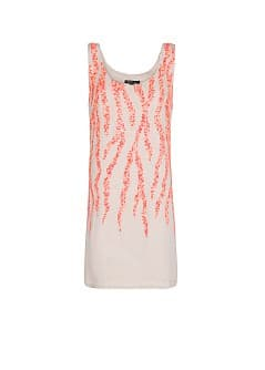 Coral motifs sequined dress