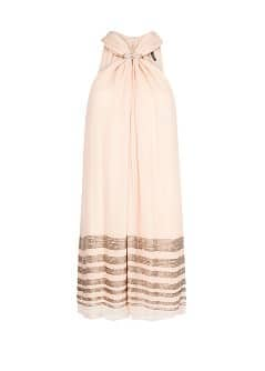 Chiffon beaded dress