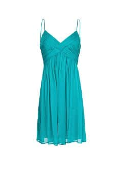 Chiffon draped dress