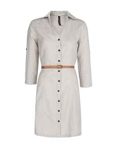 Robe chemisier en lin et en coton