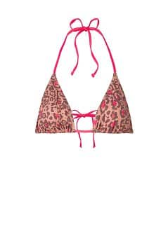 Triangel-Bikini-Top Leoparden-Print