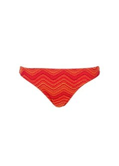 Zigzag crochet-knit bikini bottom