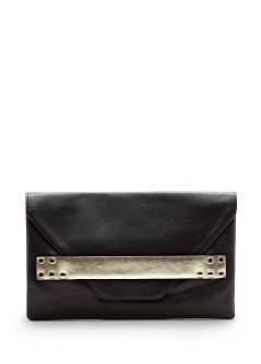 Clutch mit Metallic-Band