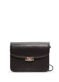 Metallic clasp shoulder bag
