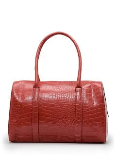Faux croc bowling bag