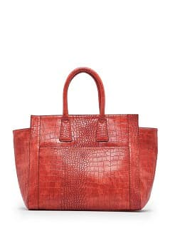 Bolso tote efecto cocodrilo