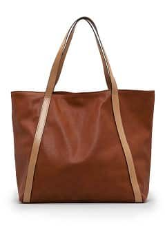 Sac course effet cuir