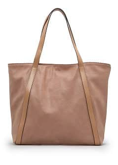 Faux leather shopper bag