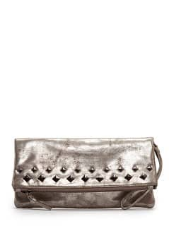 Pochette mtallise clous