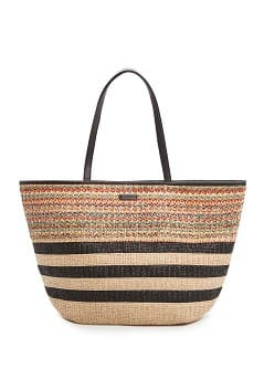 sac shopper raphia multicolore