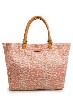 Shopper lona metalizada leopardo
