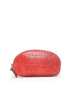 Croc effect cosmetic bag