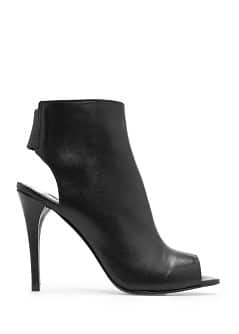 Bottines peep-toe cuir