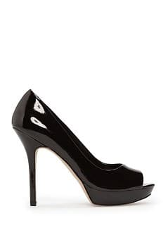 Chaussure peep-toe cuir