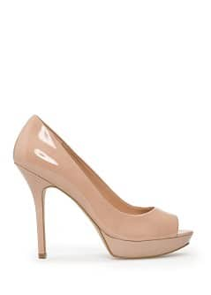 Lakleren peep-toe